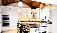 Kitchen Bay Window www.roundwindowcurtain.com #curtainideas #interiordesign #diyproject #homedecor #interiordesign