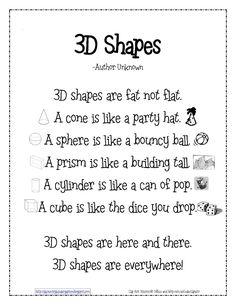 Kinder Learning Garden Blog: Teaching 3D Shapes