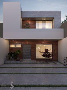 Untitled   Oscar Silva Barragán   Flickr Modern Small House Design, Small House Exteriors, Minimalist House Design, Minimalist Architecture, Dream Home Design, Minimalist Home, Luxury Modern Homes, Luxury Home Decor, Best House Plans