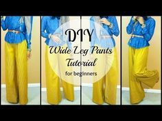 ▶ DIY | How to Sew Wide leg Pants | For Beginners - YouTube