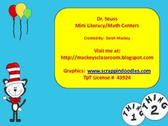 Dr. Seuss centers - one math/one literacy - FREE