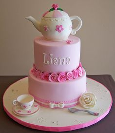 Teapot and teacup cake by cakespace - Beth (Chantilly Cake Designs), via Flickr