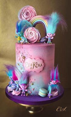 Trolls - cake by Cristina - CakesDecor 7th Birthday Cakes, Frozen Birthday, Birthday Parties, Trolls Birthday Party Ideas Cake, Birthday Boys, Birthday Ideas, Bolo Trolls, Trolls Cakes, Beautiful Birthday Cakes