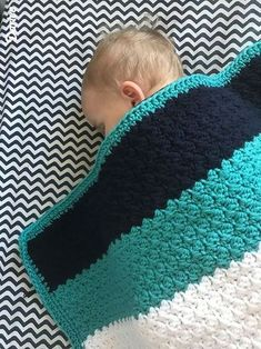 striped crochet baby blanket