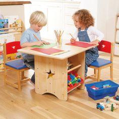 Star Table & 2 Chair Set Nest Furniture, Kids Furniture, Table Storage, Storage Bins, Boy Room, Kids Room, Study Room Decor, Nest Design, Kids Study