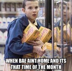 Stranger Things. Eleven.  #funny #meme
