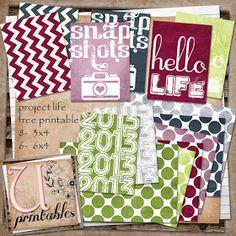 RebeccaB Designs: GRATUIT imprimable - Life Project Swamped