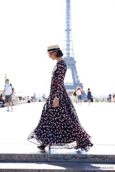 Natuka karkashadze | Paris Couture FW 2011  Paris dreaming… dreamy Natuka dancing infront of the Eiffel Tower. She customised her entire outfit.
