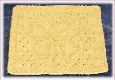 knit butterfly dishcloth pattern