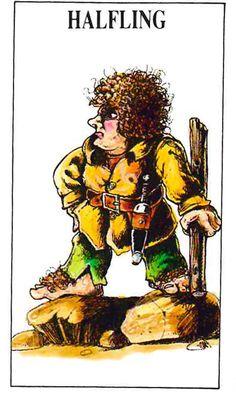 Talisman Halfling Character Design (1986).