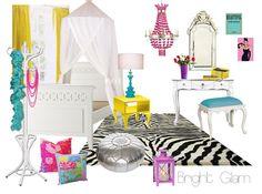 Loving Brooke's 'Bright Glam' tween bedroom style!!