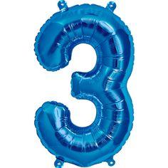 Folieballoner der kun skal pustes op med luft! De er ca. 40 cm. høje og fyldes nemt op med et medfølgende sugerør. Denne specielle type folieballon kan ikke pustes op med helium. Fås hos MinTemaFest.dk. Blå Tal 3 Luft Folie Ballon 41 cm. - Single