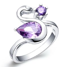 Find More Rings Information about Rings Purple Swan Shape Silver Jewelry Cute Ring with Big Stone Accessories Para Mulher Top Quality 2016 Red Anello Ulove J117,High Quality rings with big stones,China cute rings Suppliers, Cheap ring purple from Ulovestore Jewelry on Aliexpress.com