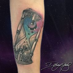 Beautiful Meaningful Tattoos for Women That Inspire Galaxy Hourglass Tattoo for Those Who Value Time Beautiful Meaningful Tattoos, Meaningful Tattoos For Women, Beautiful Tattoos, Rare Tattoos, Mom Tattoos, Small Tattoos, Tatoos, Meaning Full Tattoos, Hourglass Tattoo Meaning