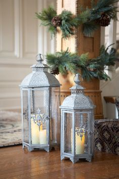 Decorate with lanterns for simple and elegant holiday decor. Melrose International