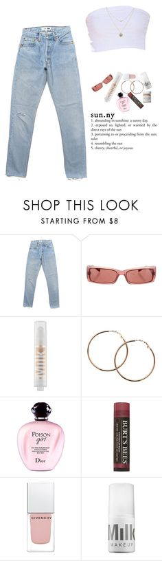 """🌸🌸"" by niya-gurl ❤ liked on Polyvore featuring Miu Miu, Lipsy, MILK MAKEUP, Melissa Odabash, Christian Dior, Burt's Bees, Givenchy, French Girl, casual and chic"