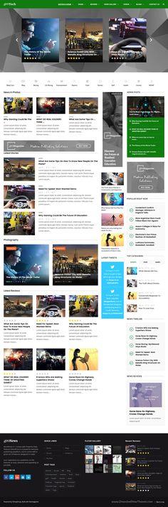 Hash News Magazine Html Template Pinterest Magazine Website