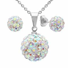 Fireball Earrings Necklace Set - 7 Colors Available  - Save 82% only $18.00