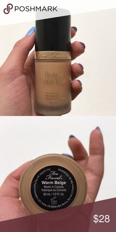 Too Faced foundation Too Faced foundation, only used once Too Faced Makeup Foundation