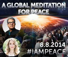 Chopra Center - Global meditation - join us on this day of meditation and peace! Imagine what we could all do!!