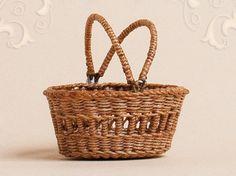 10 Miniature Woven Rattan Baskets 45 mm Dollhouse Handmade Weave Craft Decorate