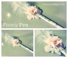 DIY fancy pen for wedding guest book