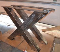 Pieds de Table métal, Style industriel X-Frame - n'importe quelle taille et la couleur !