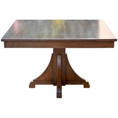 Craftsman Style Dining Table ($9,500) ❤ liked on Polyvore featuring home, furniture, tables, dining tables, brown, dining room sets, craftsman kitchen table, brown table, brown dining table and brown dining set