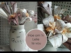 Hoe om 'n lelie te vou - YouTube Om, Make It Yourself, Table Decorations, Youtube, Crafts, Manualidades, Craft, Youtubers, Crafting