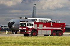 ARFF Vehicle next to Airplane #Fire #Rescue #Setcom