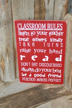 Classroom Rules  perfect teacher gift/ end of the year by invinyl, $18.00