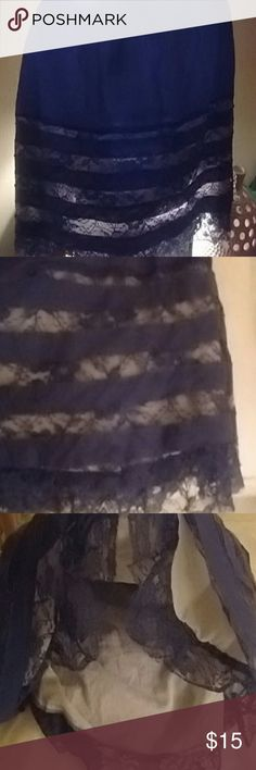 Willow & Clay Lace  skirt Blue laced willow & clay skirt Worn twice. lined.   beautiful new no tags Final price Willow & Clay Skirts