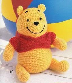 Continuando con personajes de disney, aquí les comparto otro lindo patron de winnie pooh y piglet amigurumis, porque a quién no le encantan ...