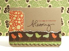 Bird-y card: Simple design, netural colors. Cute.
