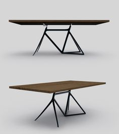 Pretty cool...who is the designer? >> bicycle frame table.