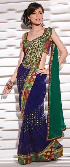 OMG. Peacock sari.