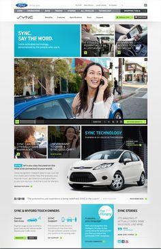 Ford SYNC Redesign by Kara Hodecker, via Behance