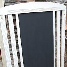 Reuse Crib Chalkboard