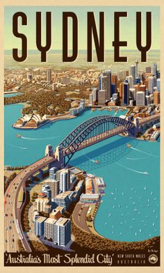 Sydney, Splendid City - Vintage Travel Poster by Vintage Portfolio