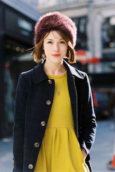 Repin Via: Vanessa Jackman #outerwearstyle #popofcolor #effortlesslychic