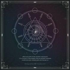 Astrological geometric symbol
