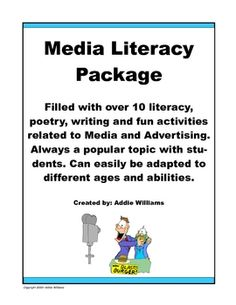 Media Literacy Package - over 10 activities to engage and involve your students. Visual Literacy, Digital Literacy, Media Literacy, Literacy Activities, Teaching Resources, Library Lessons, Writing Lessons, Reading Strategies, Reading Comprehension
