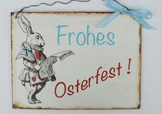 Osterdeko  -Türschild - Frohe Ostern von Un-Art-Tick auf DaWanda.com