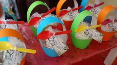cupcakes en canasta para dia de la madre