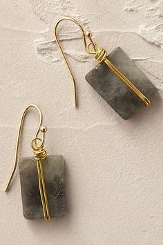 Wrapped Quartz Earrings - anthropologie.eu