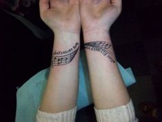 Top Black and Grey Wrist Tattoos - Musical wrist tattoo | #WristTattoos #Tattoos #TattooDesigns