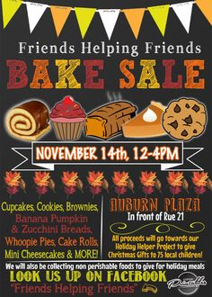 Bake Sale Fundraiser  Free Flyer Template By HloomCom  Bake