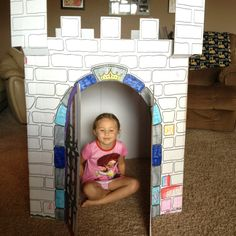 Cardboard castle for bday party | My Attempts... | Pinterest ...