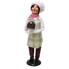 Byers Choice Chef with Chocolate Cake.