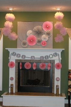i hosted a baby shower at my house that was a pink glitter elephant and gray